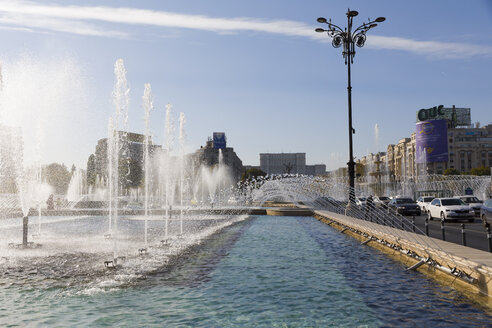 Rumania, Bucharest, fountain - KLR00743