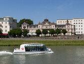 Austria, Salzburg, old town, tourboat on Salzach - WW04489