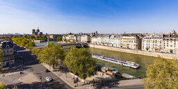 France, Paris, cityscape with River Seine and Notre Dame - WDF04874