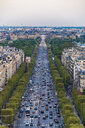 France, Paris, cityscape with Avenue des Champs-Elysees and Louvre - WDF04886
