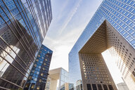 France, Paris, La Defense, Grande Arch and other modern office buildings - WD04894