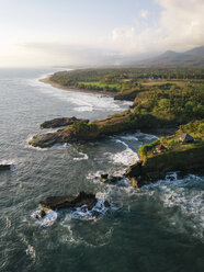 Indonesia, Bali, Aerial view of Balian beach - KNTF02352