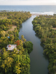 Indonesia, Bali, Aerial view of Balian beach, tropical river - KNTF02355