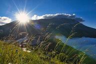 Italy, Umbria, Sibillini National Park, Piano Grande di Castelluccio di Norcia at sunrise - LOMF00754