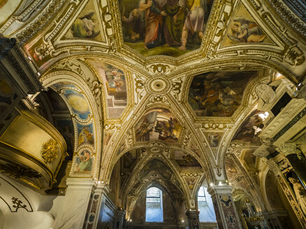 Italy, Campania, Amalfi, Cathedral of Sant'Andrea, ceiling paintings - AM06261