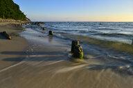 Germany, Mecklenburg-Western Pomerania, Ruegen, Sellin, old breakwater at beach - FDF00253