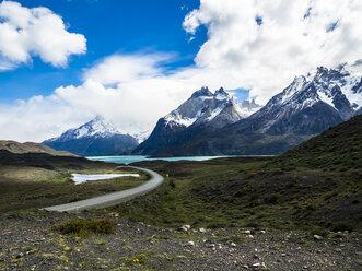 Chile, Patagonia, Torres del Paine National Park, Cerro Paine Grande and Torres del Paine, Lago Nordenskjold - AMF06285