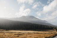 Switzerland, Engadine, morning sun at Lake Staz - LHPF00140