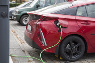 Germany, electric car recharging - KLRF00755