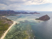 Indonesia, West Sumbawa, Kertasari, Aerial view of beach - KNTF02361