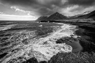Black and white scenic shot of the sea out in beautiful nature - INGF07913
