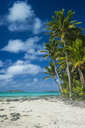 Cook Islands, Rarotonga, Aitutaki lagoon, white sand beach and palm beach - RUNF00290