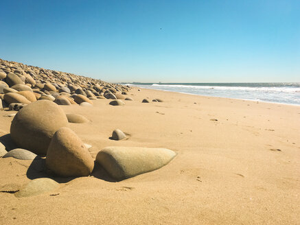 Stones, sand and sea at Ventura Beach, California, USA - SEEF00057