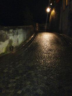 Cobblestone pavement at night - WWF04510