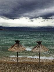 Croatia, Krk Island, Baska, beach - WWF04546