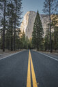 USA, California, Yosemite National Park, road and El Capitan - KKAF03031