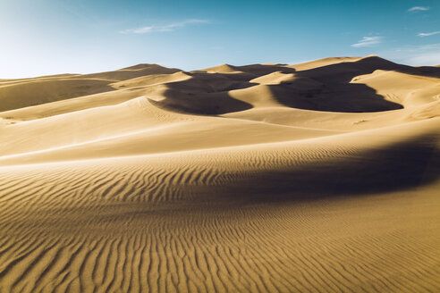 Idyllic view of desert at Great Sand Dunes National Park against sky - CAVF57941