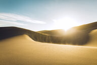 Idyllic view of desert at Great Sand Dunes National Park against sky during sunny day - CAVF57944