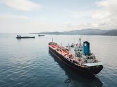 Indonesia, Bali, Aerial view of oil tanker - KNT02444