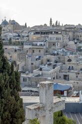 Israel, Jerusalem, Old town, christian cross, arabian district - PSTF00269