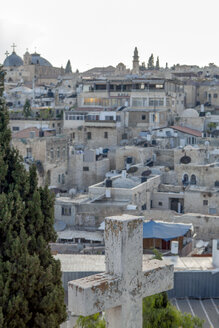 Israel, Jerusalem, Old town, christian cross, arabian district - PSTF00269