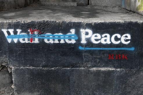 Palestine, West Bank, Bethlehem, Border, Border wall, graffiti - PST00281