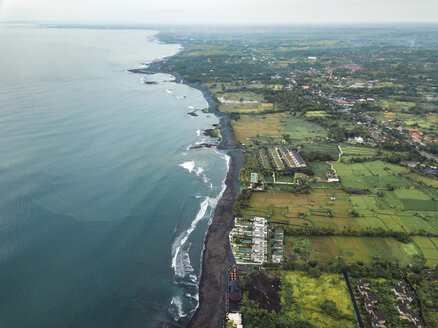 Indonesia, Bali, Aerial view of Keramas beach - KNTF02475