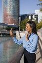 Businesswoman using smartphone - MAUF01839