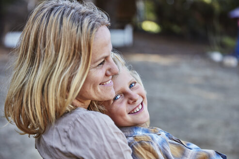 Portrait of happy mother with son outdoors - SSCF00101