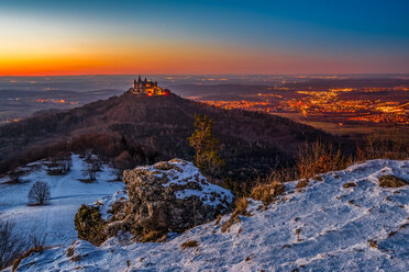 Scenic view of a mountain during sunset - INGF09431