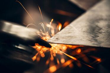 Close up shot of metal sawing - INGF09437