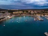 Mallorca, El Toro, Port Adriano at blue hour, aerial view - AMF06386