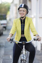 Woman with cycling helmet - FLLF00051