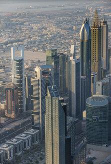 UAE, Dubai, Highrise building in Down Town Dubai - RUNF00367