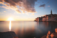 Scenic view of the sea against the sky at sunset in Croatia - INGF09796