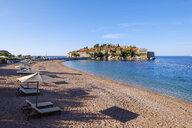 Montenegro, Adriatic Coast, Hotel Island Sveti Stefan and beach, near Budva - SIEF08202