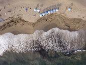 Indonesia, Bali, Canggu, Aerial view of Batu bolong beach - KNTF02525