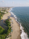 Indonesia, Bali, Aerial view of Berawa beach - KNTF02532