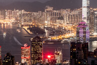 Hong Kong, Causeway Bay, cityscape at night - DAWF00780
