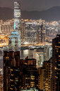 Hong Kong, Causeway Bay, cityscape at night - DAWF00786