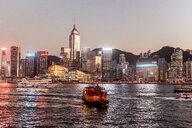 Hong Kong, Tsim Sha Tsui, cityscape at dusk - DAWF00816