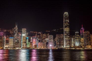 Hong Kong, Tsim Sha Tsui, cityscape at night - DAWF00822