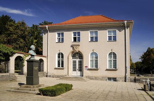 Germany, Saxony, Kamenz, Lessing Museum, Gotthold Ephraim Lessing bust - BT00510