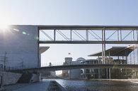 Germany, Berlin, disctrict Mitte, Regierungsviertel, 'Band des Bundes', Bridge between east and west, Paul-Loebe-Building and Marie-Elisabeth-Lueders-Building - GWF05697