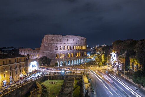 Italy, Rome, Colosseum at night - HAMF00550