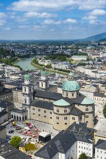 Austraia, Salzburg State, Salzburg, Salzburg Cathedral and city view - RUNF00413