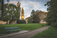 Germany, Weimar, view to Weimar Castle with Ilmpark in the foreground - KEBF01019