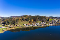 Germany, Bavaria, East Allgaeu, Fuessen region, Hopfen am See, Aerial view of Hopfensee - AMF06492