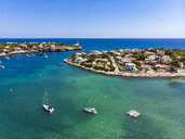 Spain, Baleares, Mallorca, Portocolom, Punta de ses Crestes, Bay of Portocolom - AMF06505
