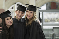 Portrait of happy college graduates - HEROF01307